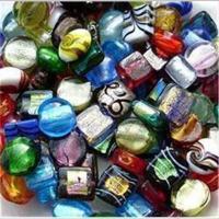 1 Beutel Glasperlen Farbmix Mischung schwarz