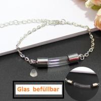 1 Armkette Armband mit Glas zum Befüllen