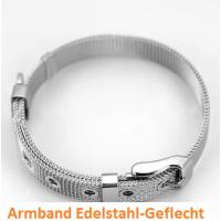 1 Armkette Armband Edelstahlgeflecht für Slide-Charms