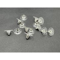 10 Ohrsteckerstopper mit Plastikplatte platin
