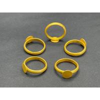 1 Fingerring mit runder Klebeplatte 8mm mattgold