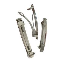 100 französische Patent-Haarspangen 60mm mit Zacke