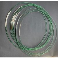 1 Halsreifen 1reihig mit Steckverschluss grün-silber